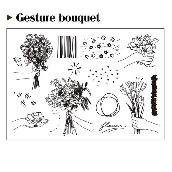 Gesture Bouquet Clear Stamp