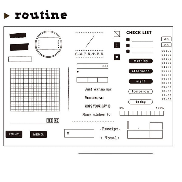 Routine Clear Stamp