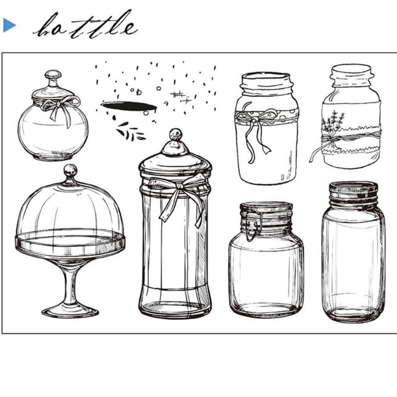 Bottle Clear Stamp