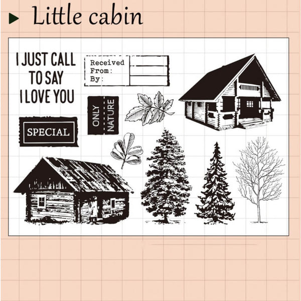 Little Cabin Clear Stamp