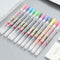 12pcs 0.5mm Colorful Gel Pens with 2 Sticky Note KINIYO Stationery