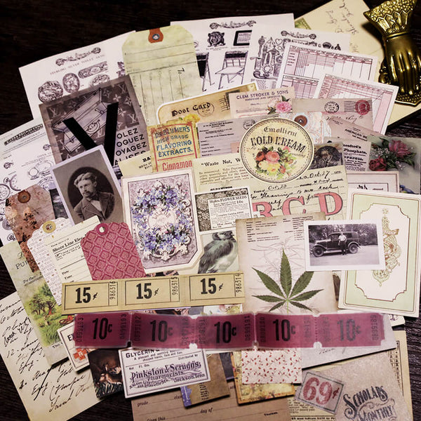 73 pcs Vintage Photos Tags Trademark Mixed Pack-4