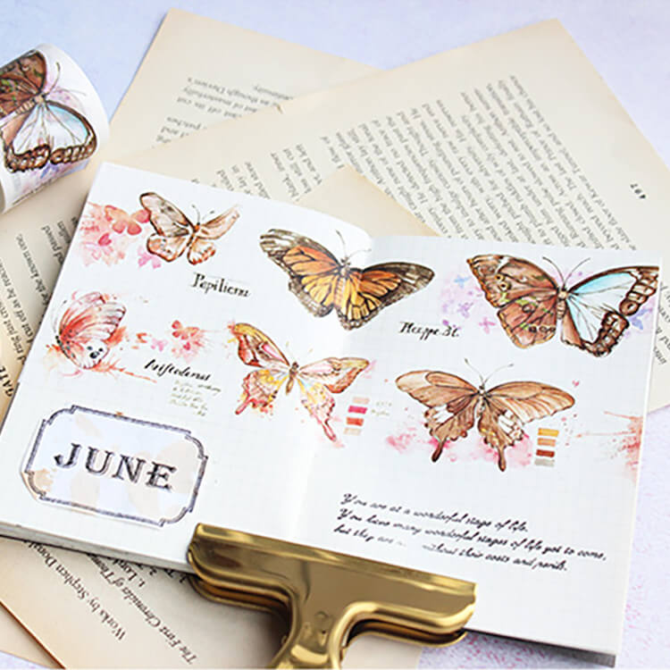 Plant Butterfly Label Washi Tape