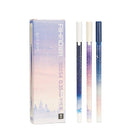 12pcs 0.35mm Black Shiny Star Fine Point Gel Pens KINIYO Stationery
