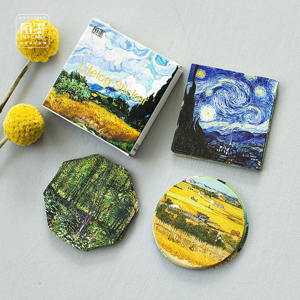 45pcs Van Gogh Series DIY Sticker+stationary2