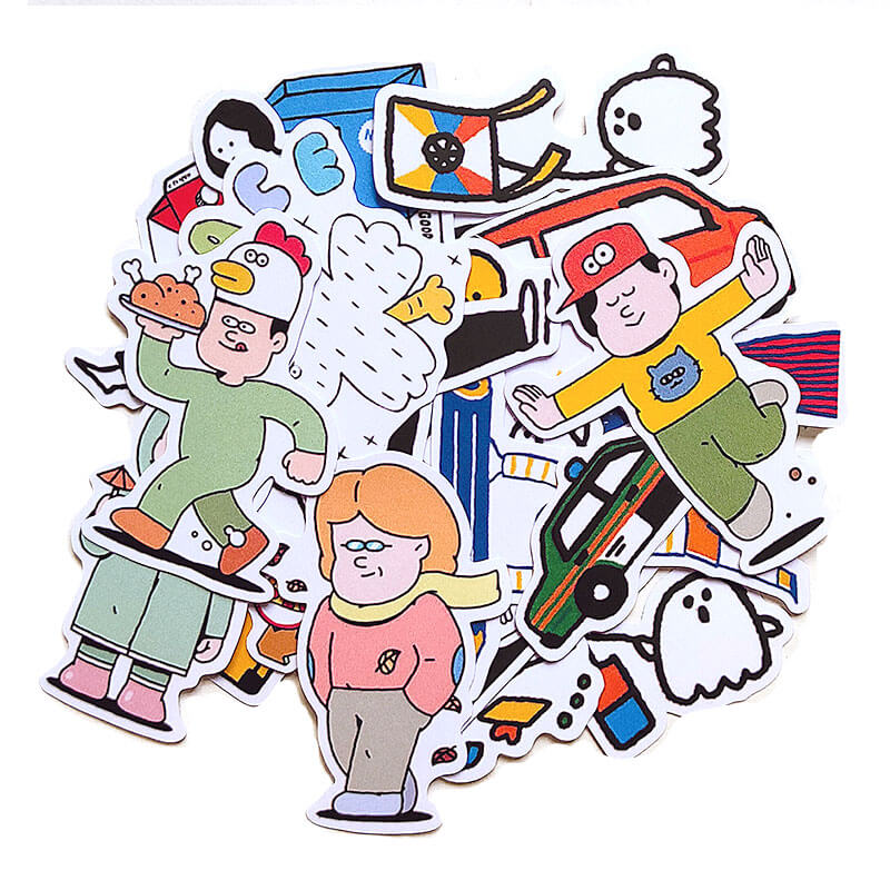 Cartoons Kids Themed Sticker