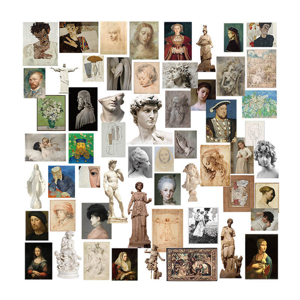 55 pcs Art gallery themed Sticker