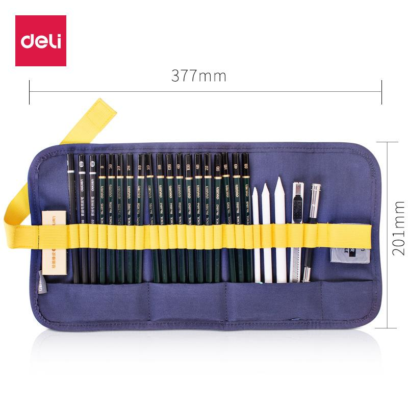27pcs Sketch Drawing Tool Set Pencil with Eraser KINIYO Stationery
