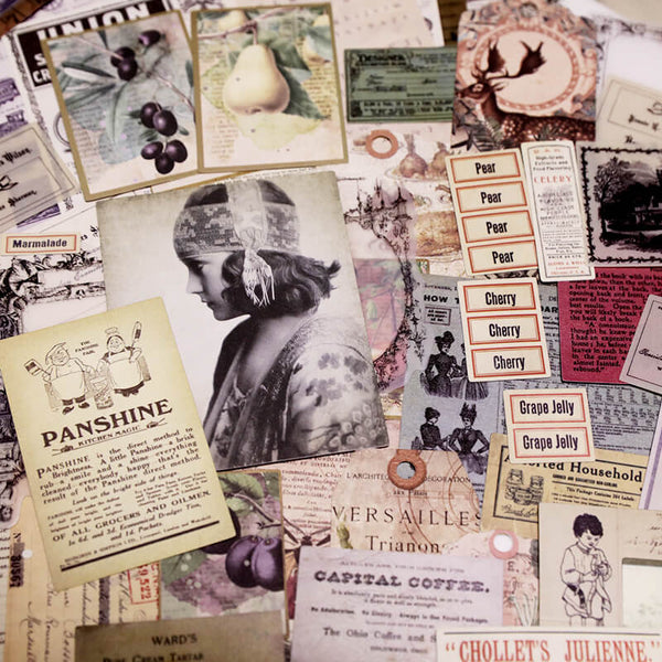 60 pcs Vintage Photos Tags Trademark Mixed Pack-1