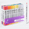 12/24/36/48/80pcs Dual-Tip Aquarelle Brush Set KINIYO Stationery