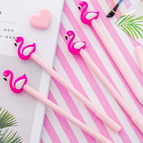 1 Piece  Flamingo Gel Pen KINIYO Stationery