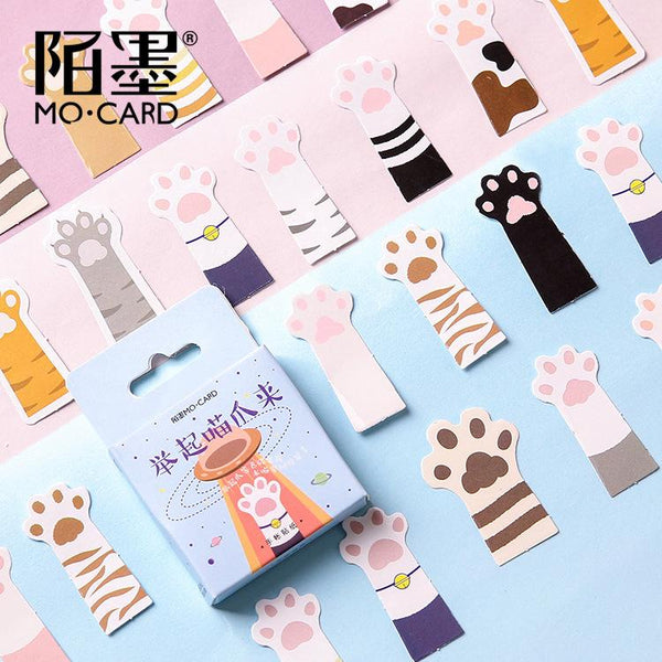 45pcs Kitten Hands Up Boxed Sticker KINIYO Stationery