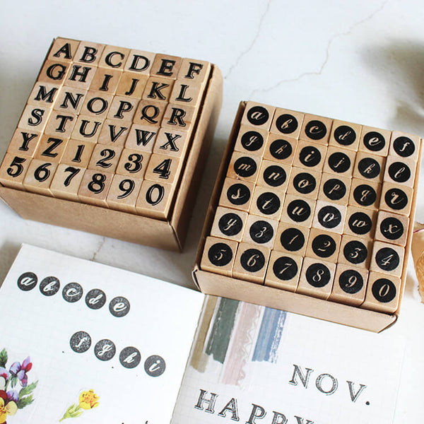 Alphabet And Numbers Stamp-Set of 36
