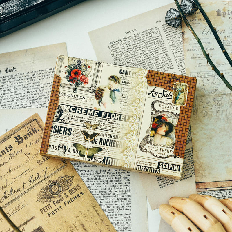 81 pcs Lebel Bookmark Mixed Paper Pack