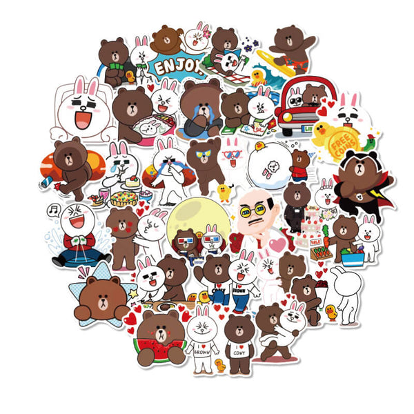 36 pcs Brown Bear Sticker Bomb