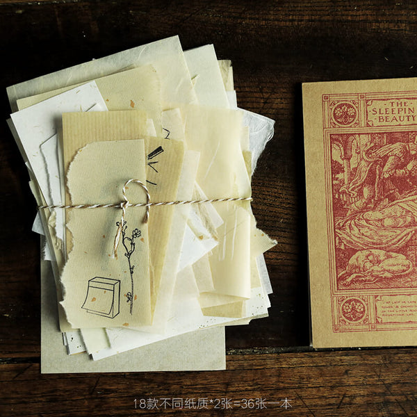 36 pcs Vintage Junk Journal Kit Pack