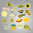 50 pcs Fresh Yellow Sticker Bomb