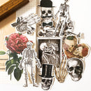 14 pcs sexy bone human skeleton Skull Sticker