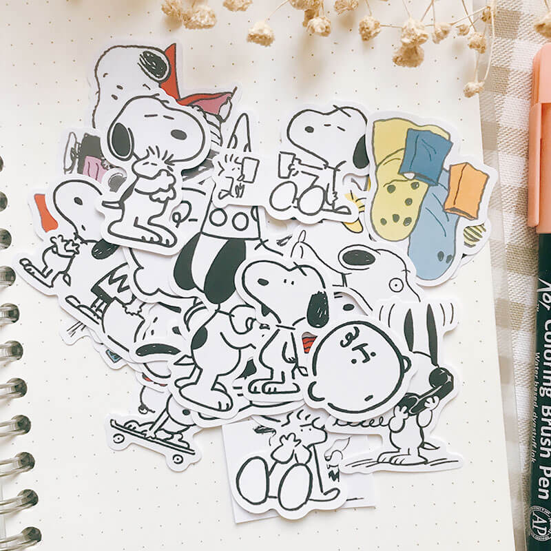 25 pcs Snoopy Themed Sticker
