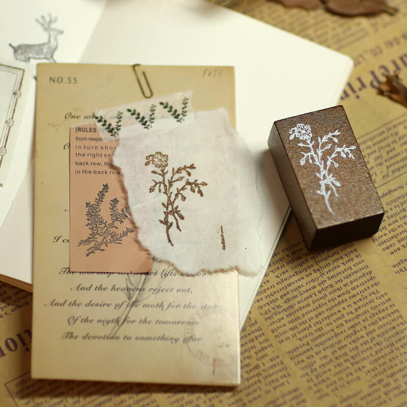 Green River Grass Wooden Stamp-Set of 9
