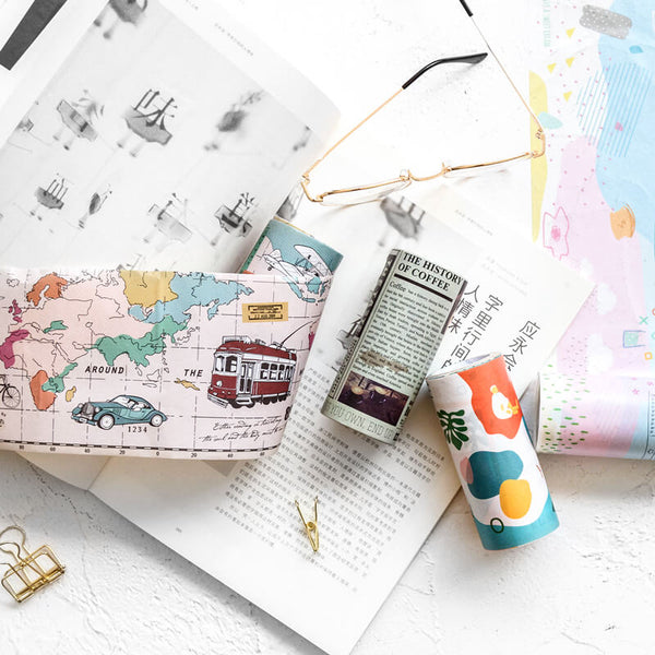 Life Style Super Wide Deco Washi Tape With Release Paper