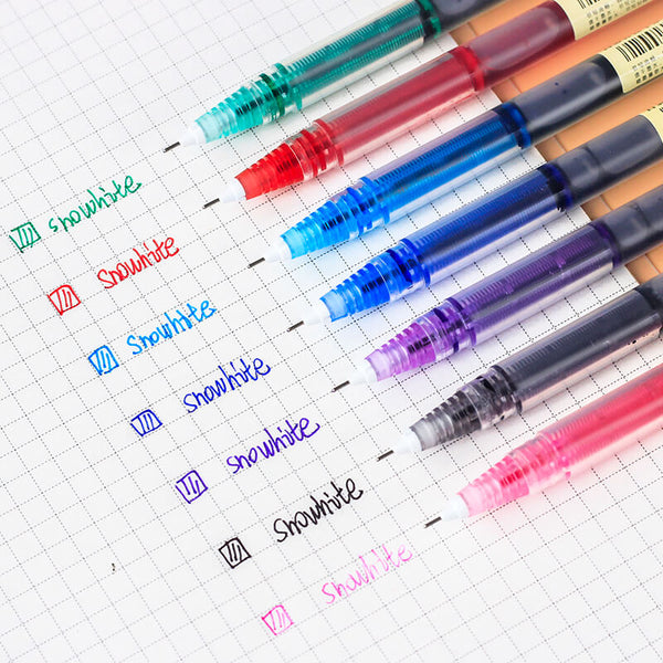 Colorful Ink Straight Liquid Gel Pens-Set of 12