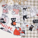 13 pcs We Can Do It illustration Sticker