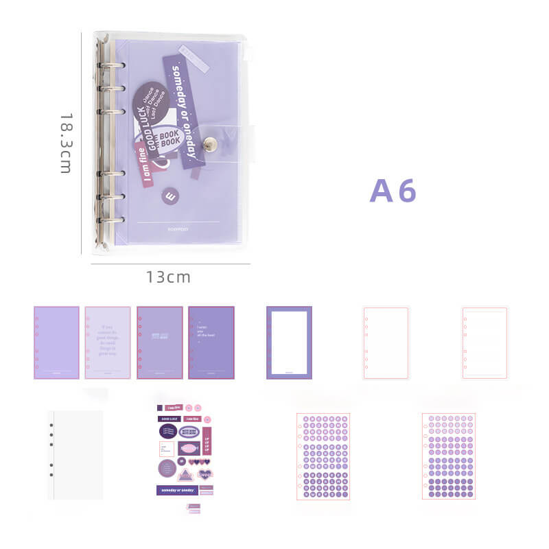 A6 Transparent Cover Planner