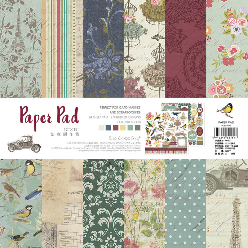 26 pcs Background Paper Pad