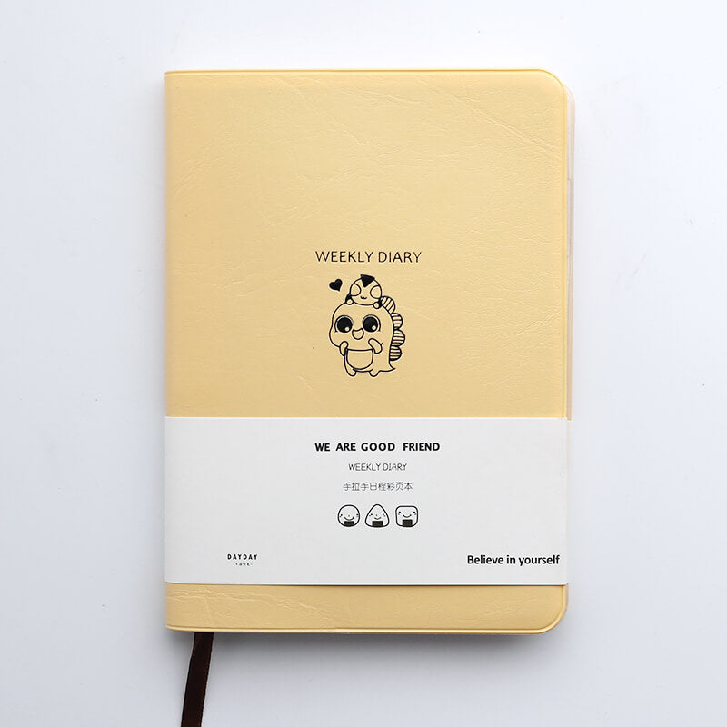 Color pages Cute Animal Hand Book Planner