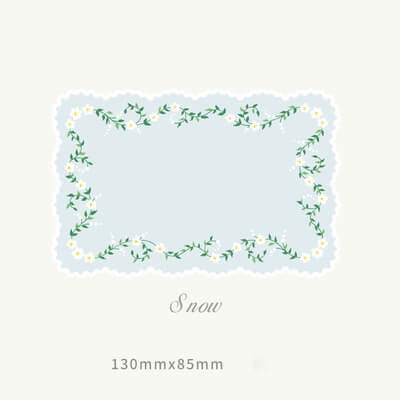 Base Scrapbooking Material Memo Paper-Set of 20