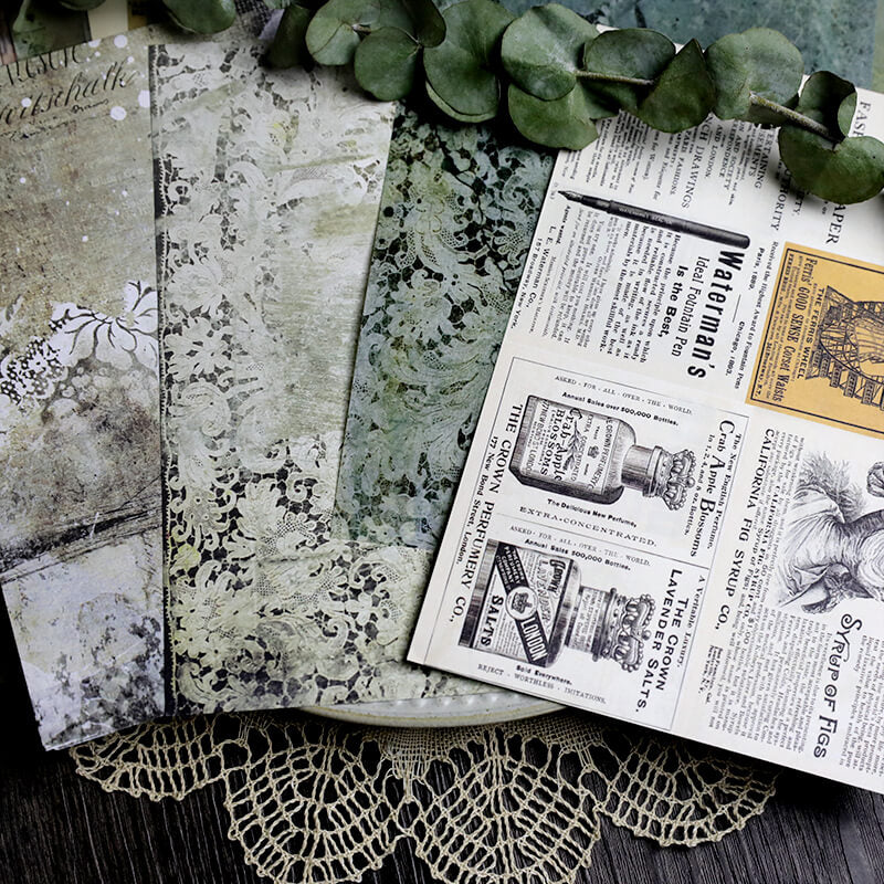 18 pcs Vintage Junk Journal Kit Pack