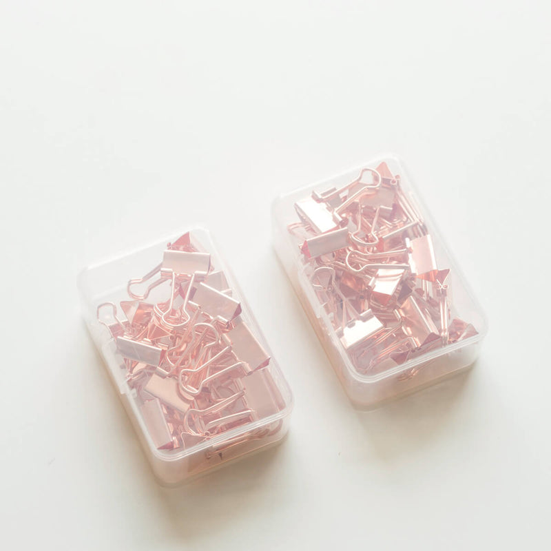 Rose Gold Binder Clip-Set of 24