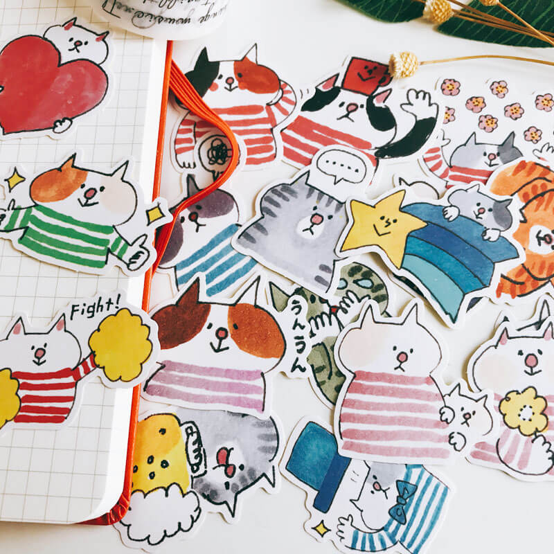 18 pcs Funny Cat Sticker