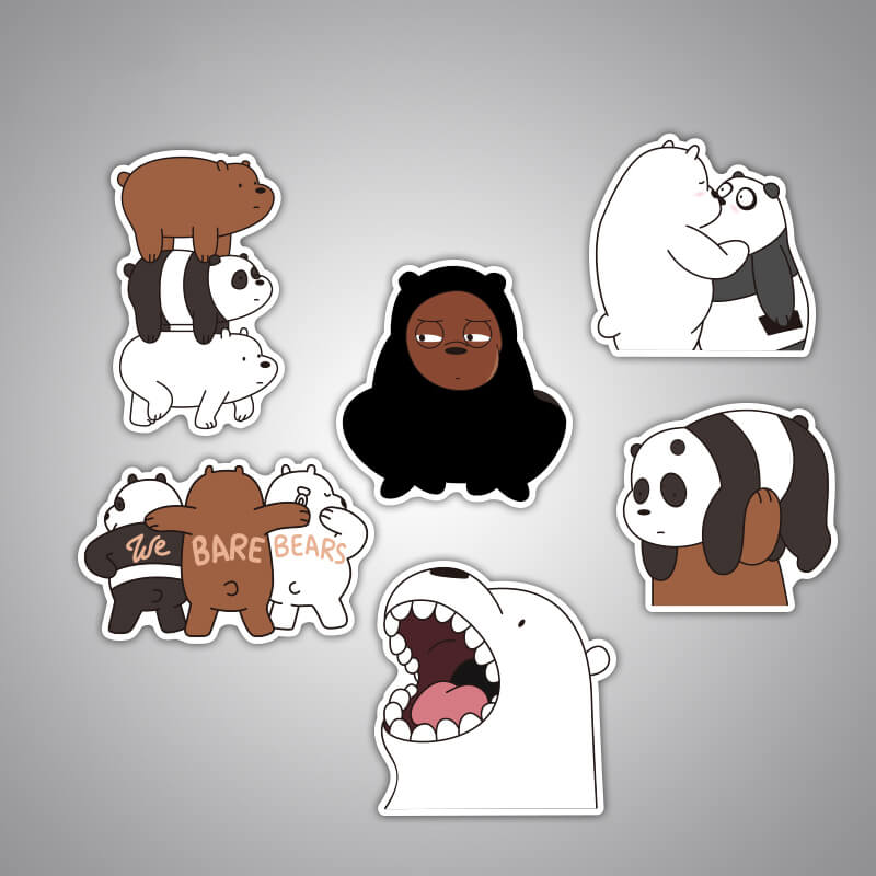 6 pcs Bear Sticker Bomb