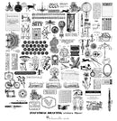 88 pcs Industrial Drafting Sticker