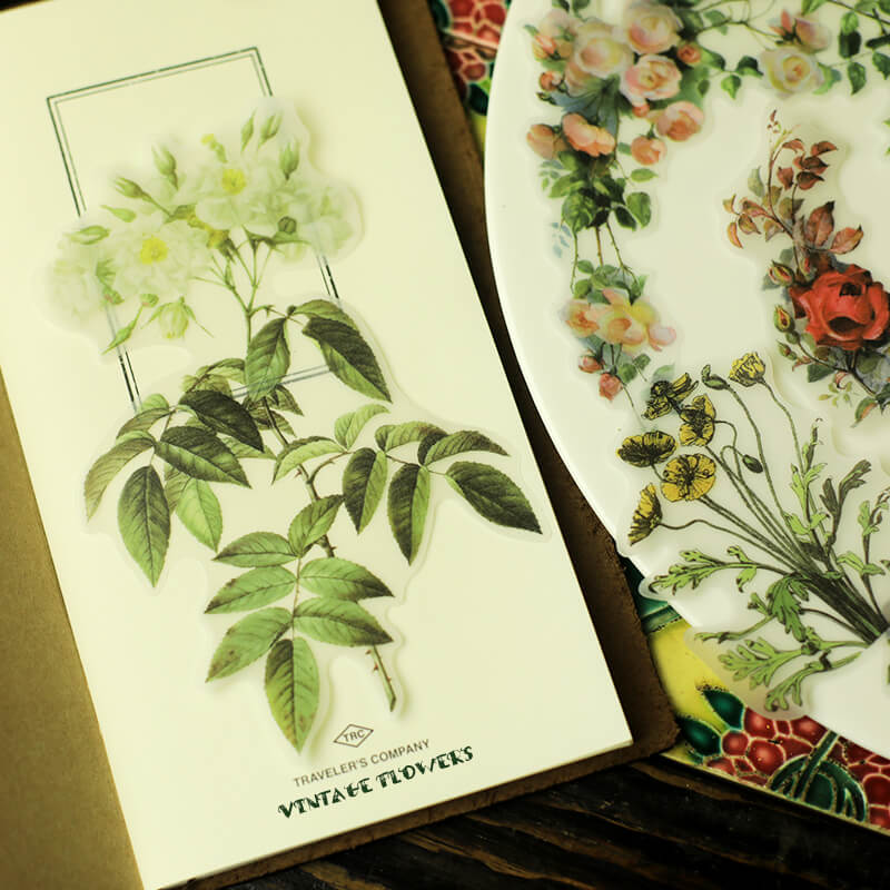 40 pcs Flowers Sticker