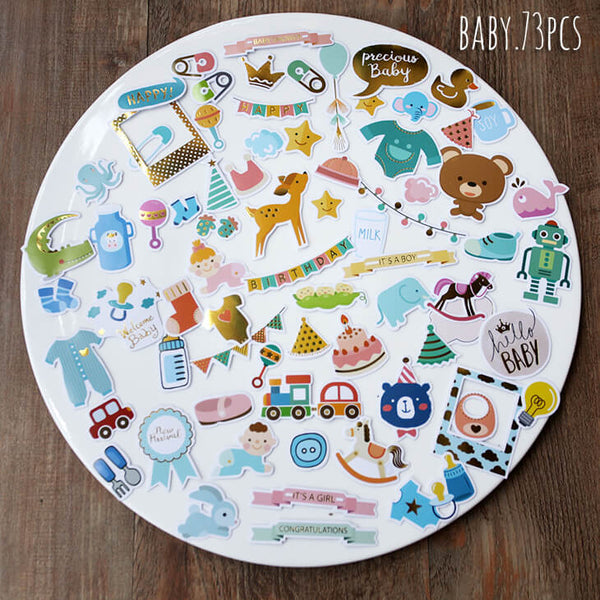 73 pcs Baby Themed Sticker