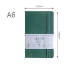 1 Piece A6 Business Leather Journal Notebook with Matching Placeholder Ribbon KINIYO Stationery