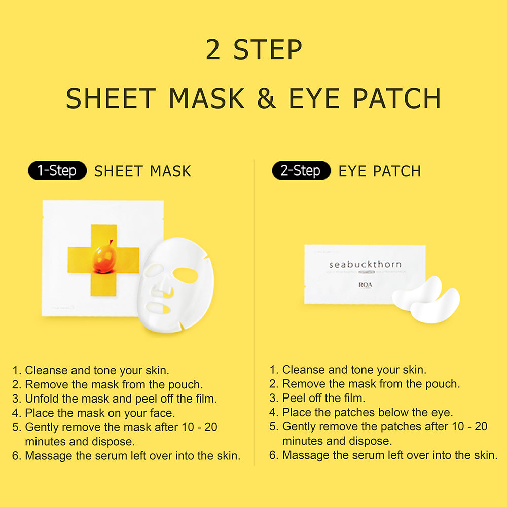 Sea Buckthorn mask pack & eyes patch (Pack of 10)