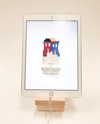 Handcrafted Newfoundland iPad/tablet stands