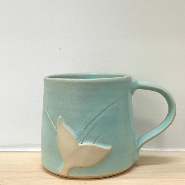 Whale's Tail Clay Mugs