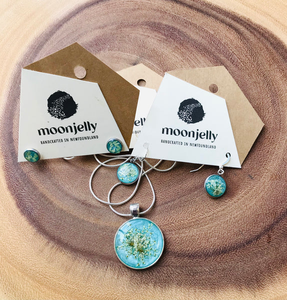 Lichen Necklace and Earrings by Moonjelly