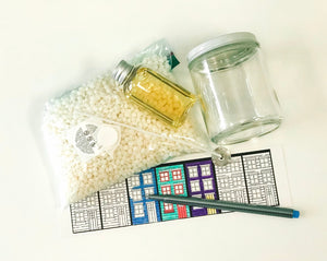 DIY Row House Colouring & Candle Kit