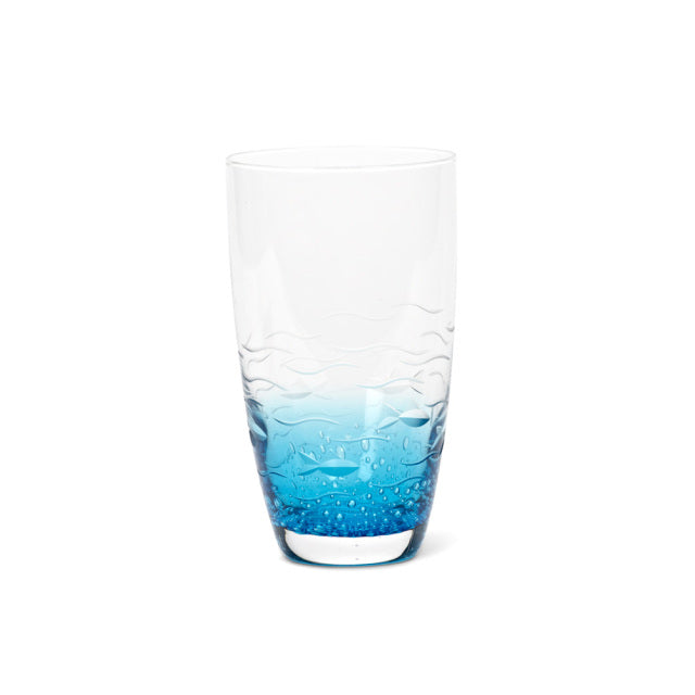 Blue Fish Cut Highball 17 oz