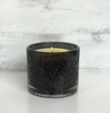 Glass Flower Pot Candle