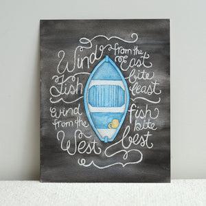 Little Blue Dory Print