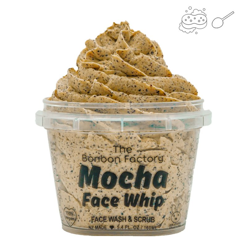 I'm a gorgeous mocha whipped face cleanser with Arabian coffee granules to gently wash away impurities.