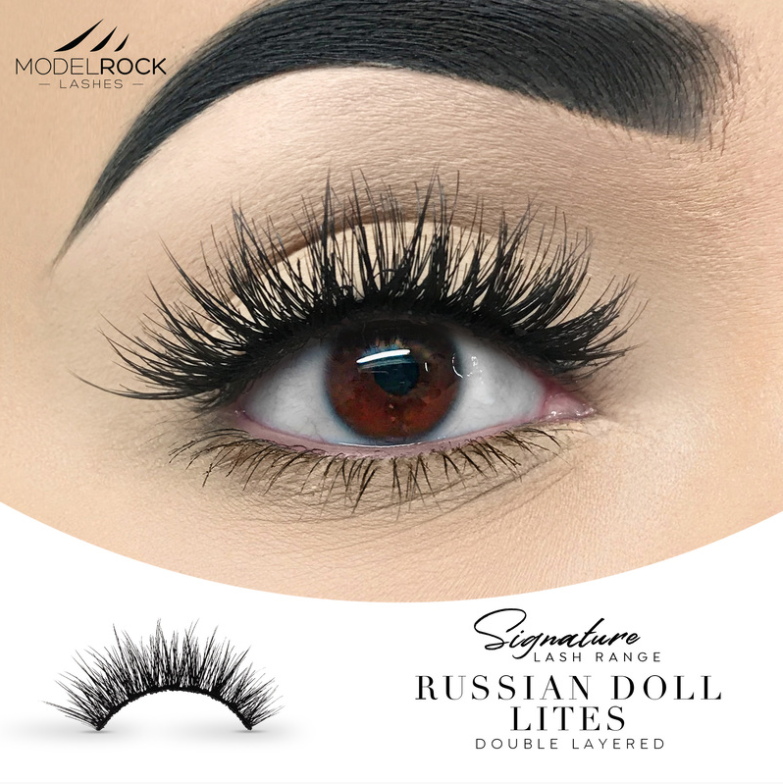 Russian Doll 'Lites' - Double Layered Lashes
