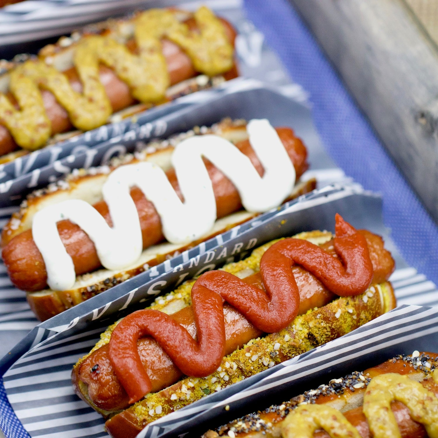 Soft Pretzel Hot Dogs